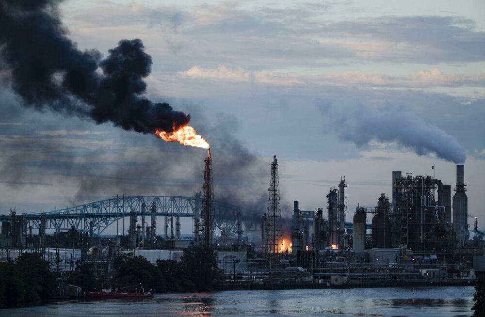 ФОТО и ВИДЕО | В Филадельфии на нефтеперерабатывающем заводе произошел пожар