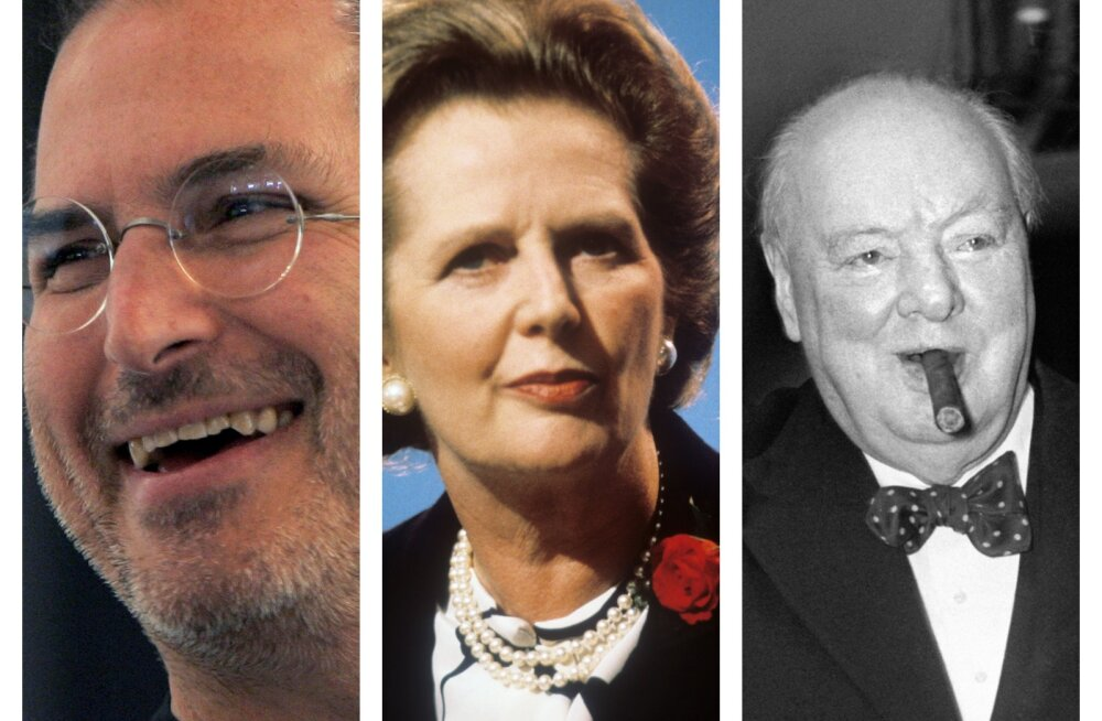 Steve Jobs, Margaret Thatcher, Winston Churchill,