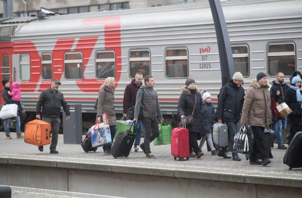 Moskva rong aastavahetuse turistidega