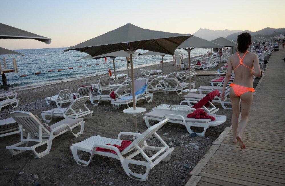 Vene turistide arv Antalyas kukkus jaanuaris rohkem kui viis korda
