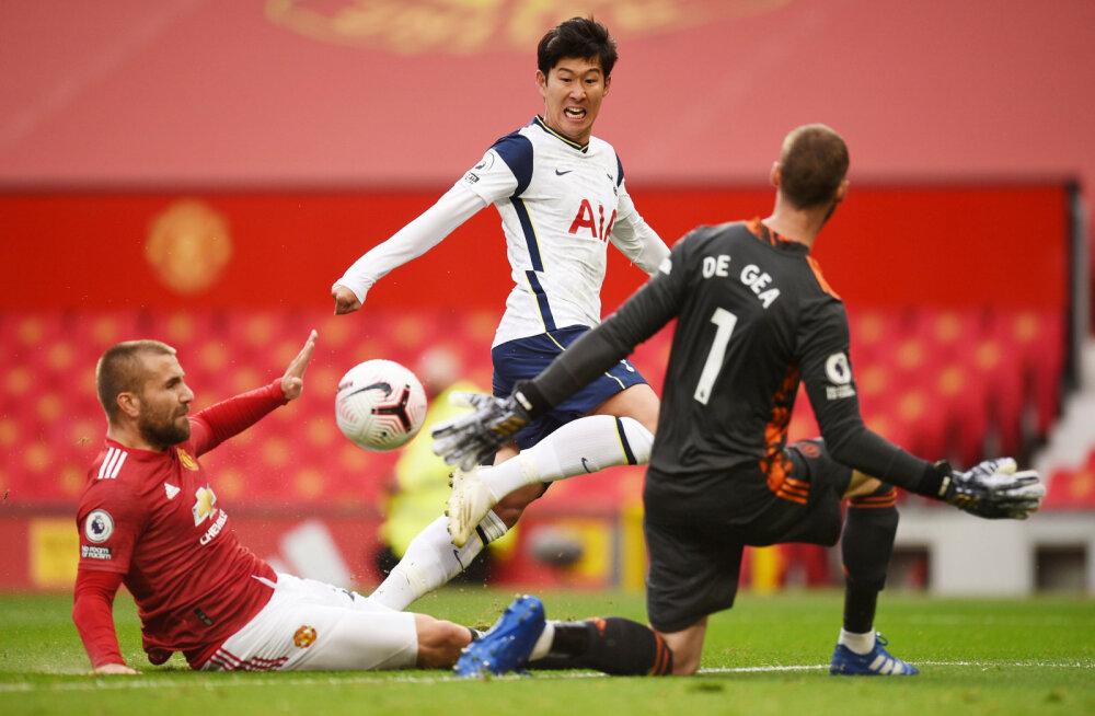 Häving: vähemuses lõpetanud Manchester United korjas kodus Tottenhami vastu võrgust välja kuus palli