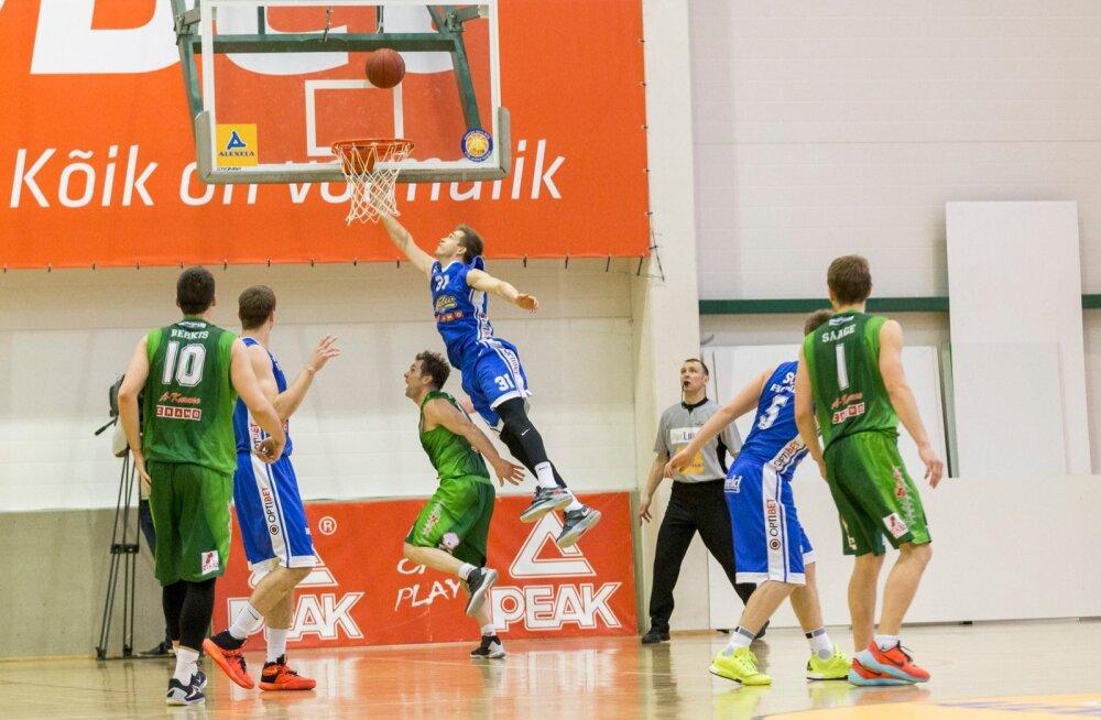 BC Kalev/Cramo alistas Alexela Korvpalli Meistriliiga veerandfinaalseeria teises mängus Audentese spordihallis Valga-Valka/Maks&Mooritsa 88:87 ning läks kolme võiduni peetavat seeriat 2:0 juhtima.
