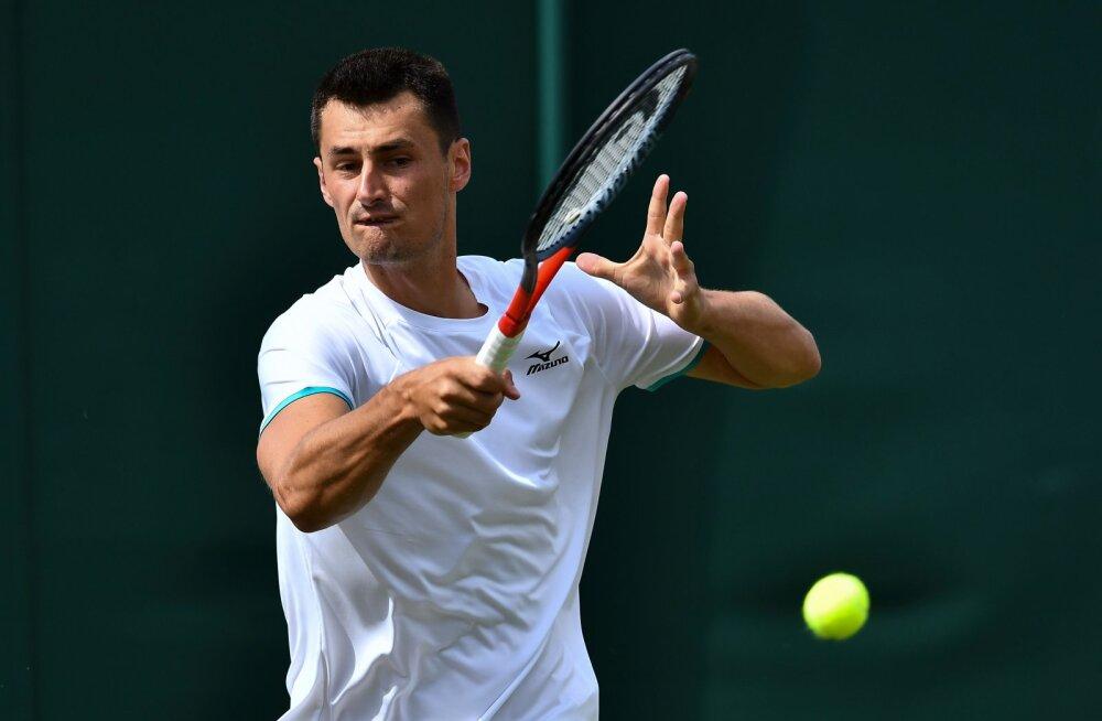 DELFI WIMBLEDONIS | Austraalia tennisist sai kehva mängu eest üle 50 000 euro suuruse trahvi