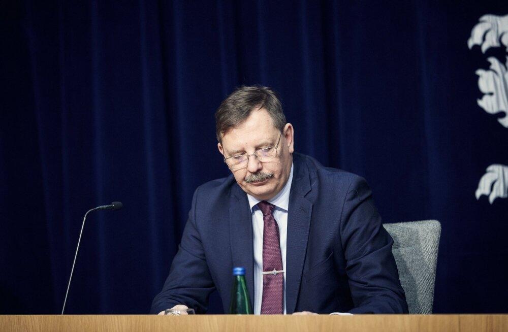Taavi Aas valitsuse pressikonverentsil