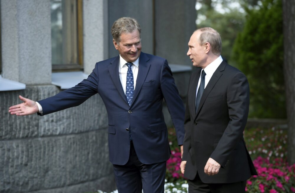 Niinistö Putinile: sanktsioonid jäävad kestma, kuni olukord Ida-Ukrainas paraneb