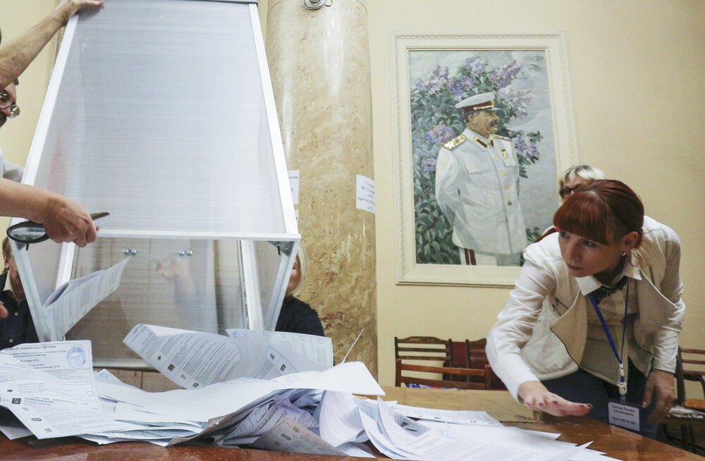 Moskvas käis valimas vaid 21% hääleõiguslikest, Peterburi kubernerivalimised võitis senine kohusetäitja