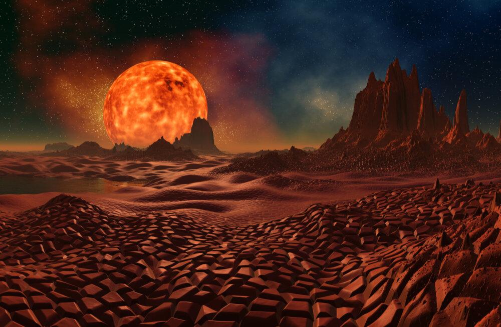 Astronoomid avastasid: kaugel planeedil sajab öösel rauda