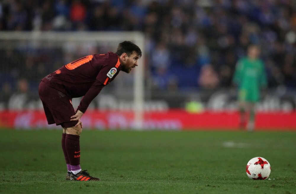 VIDEO | Barcelona kaotusteta seeria seeria sai lõpu, Messi eksis penaltil