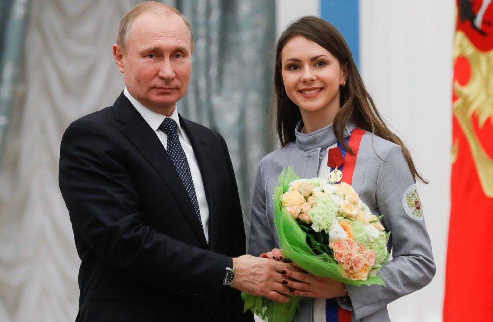 Vladimir Putin ja Natalja Zabijako