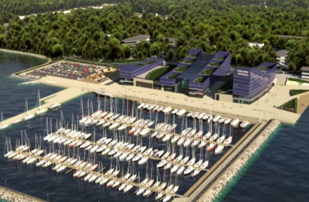 В Какумяэ началось строительство уникального морского комплекса