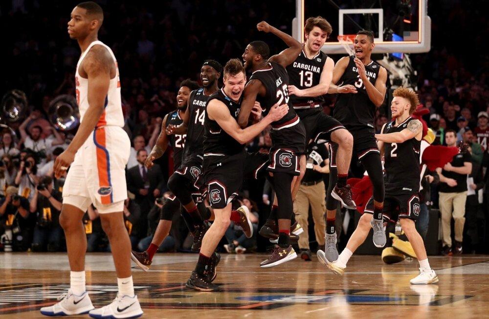 NCAA meistrivõistluste kaheksandikfinaal: South Carolina alistas Florida