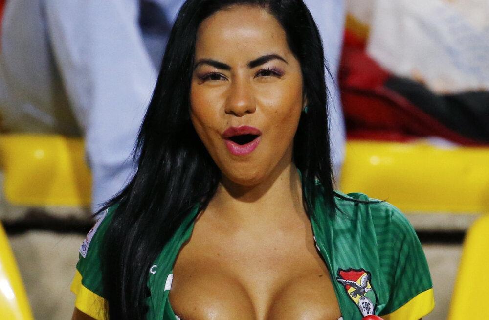 Unustage Larissa Riquelme! Copa Americal püüab pilke kuum Boliivia näitsik