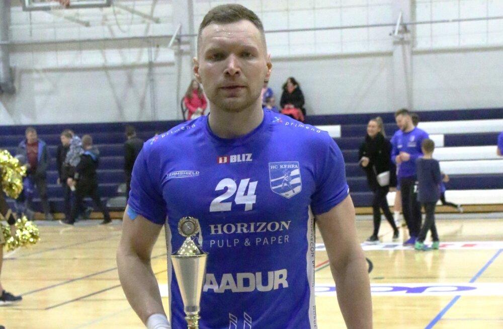 Käsipalli meistriliiga: veebruarikuu parimaks valiti Vladislav Naumenko