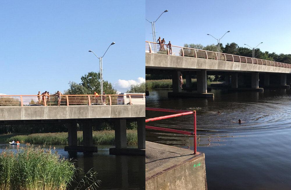 Управа Пирита: пожалуйста, не прыгайте с моста! Это опасно для жизни!