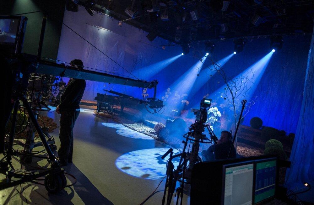 """2012. aasta """"Jõulutunneli"""" stuudio."""
