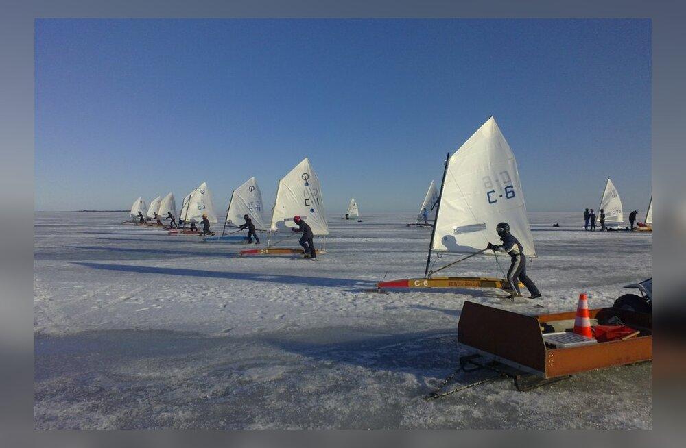 Jääpurjetamises selgusid Eesti meistrid