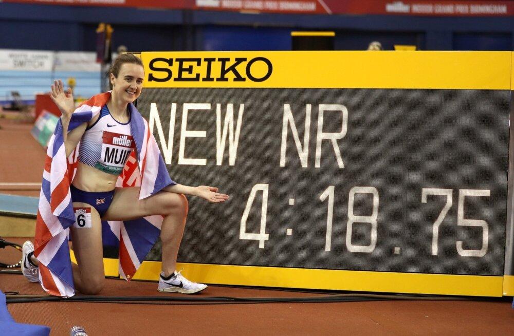 Laura Muir värskete rekordnumbritega.
