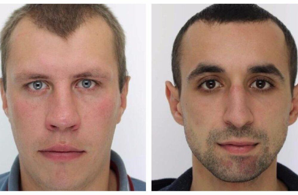 Politsei palub abi kahe ennast varjava mehe leidmisel