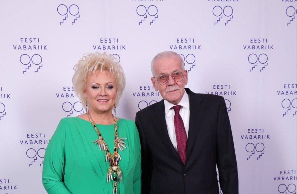 Laulja Anne Veski ja hr Benno Beltšikov
