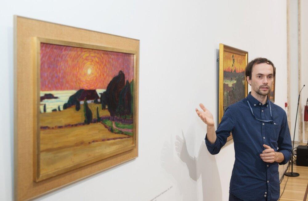 Eero Epner Konrad Mägi näituse avamisel Roomas