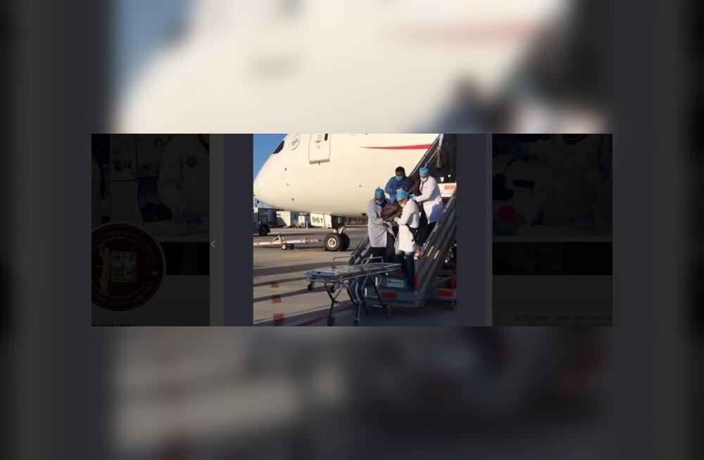 Mees suri lennukis pärast 246 kokaiinikotikese allaneelamist