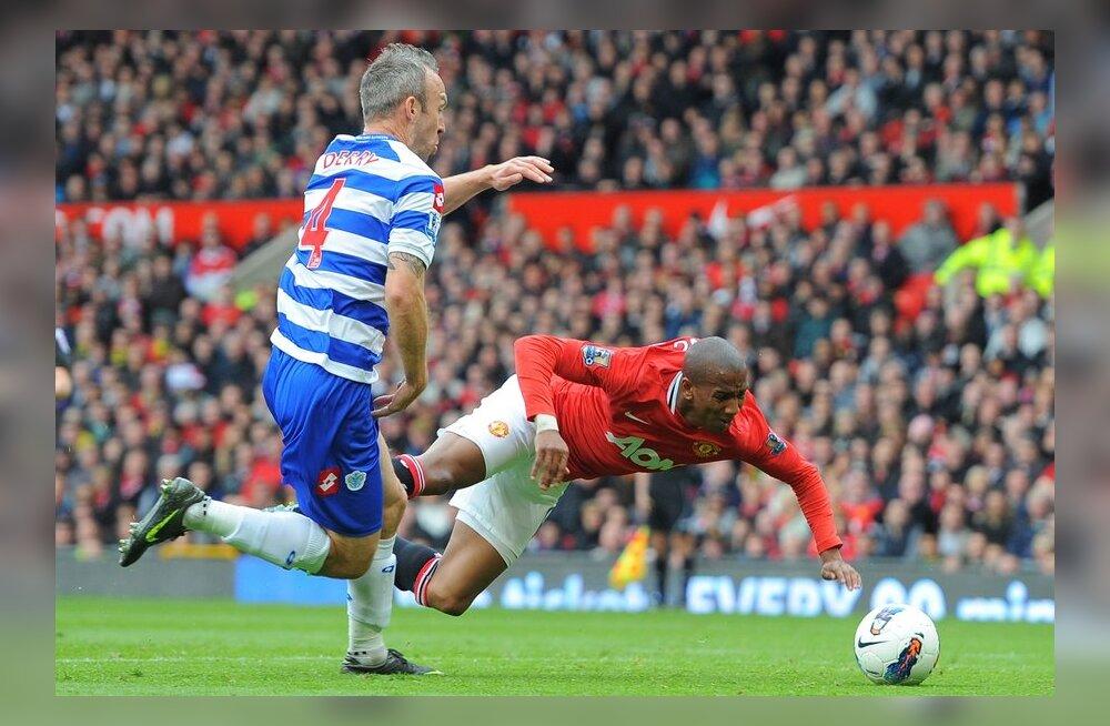 Ashley Young ja Shaun Derry, Manchester United vs QPR