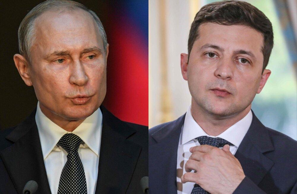Zelenskõi rääkis telefoni teel Putiniga gaasist ja tagastatud Ukraina laevadelt kadunud relvadest