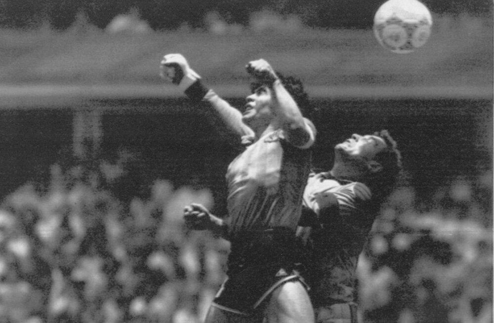 Just niimoodi seljatas Diego Maradona MM-i veerandfinaalis Peter Shiltoni ja lõi käega värava.