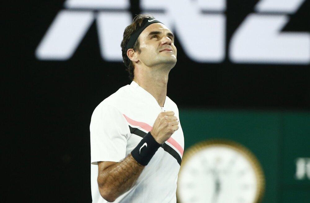 Halep ja Federer marssisid kolmandasse ringi, vanameister sai kolmandas setis higistada