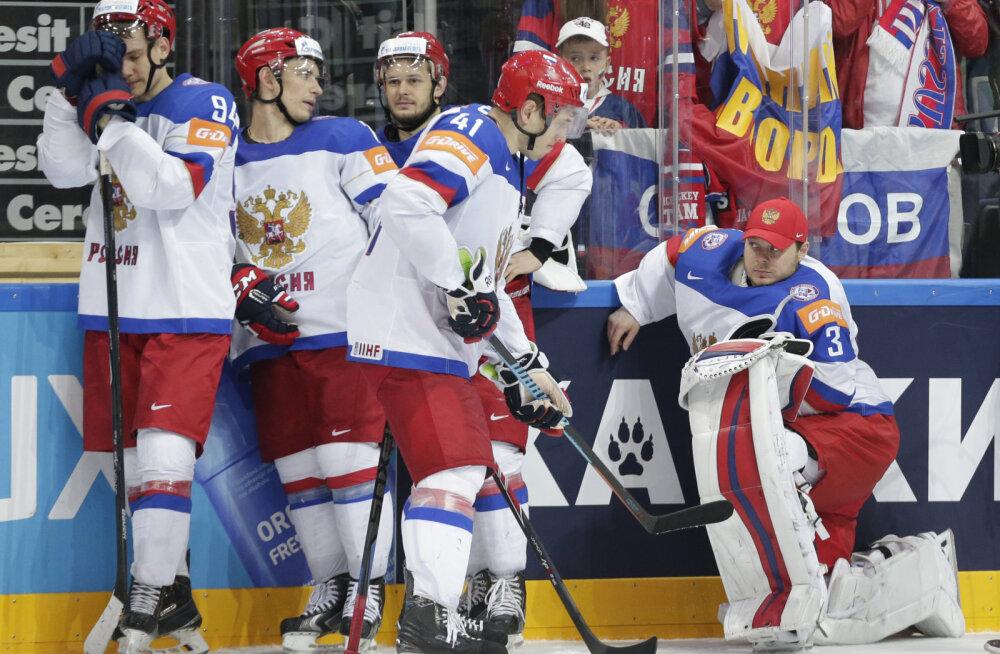 Pettunud Venemaa hokimehed pärast finaali