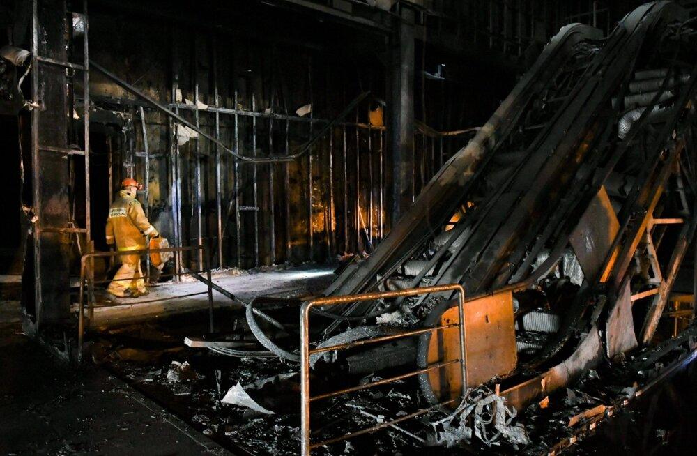 Põlenud kaubanduskeskus Kemerovos
