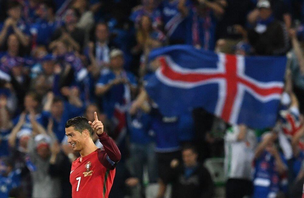 81500e71354 Esmalt rõõmustas Island üksi, kui Portugaliga viiki mängis, siis üheskoos  Cristiano Ronaldoga, sest