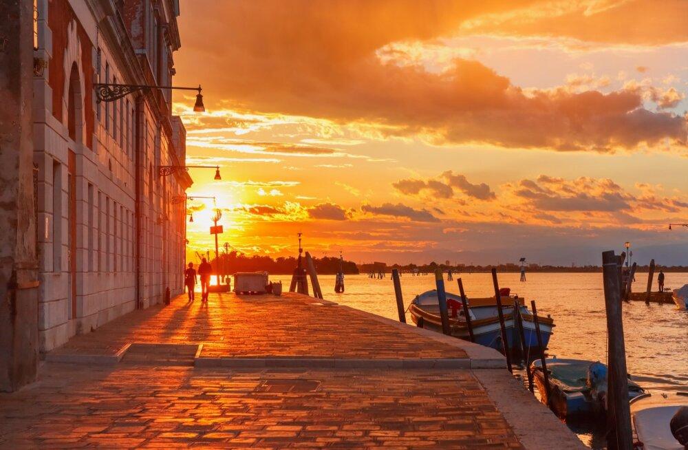 Päikeseloojang maalilises Veneetsias