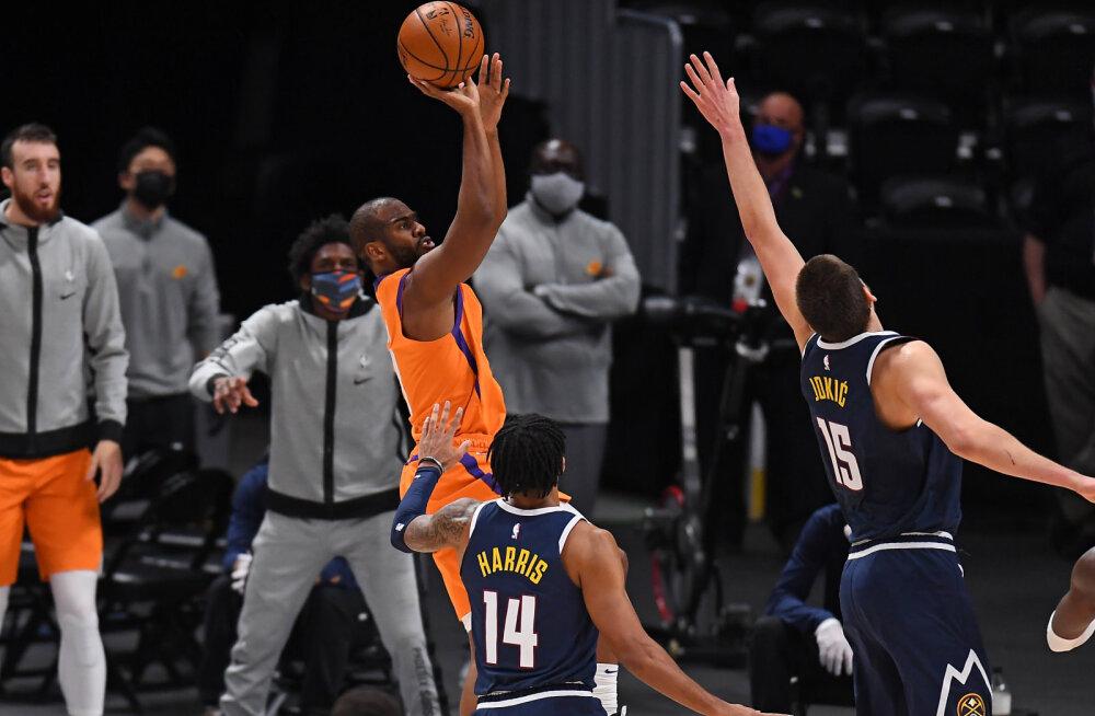 Phoenix Suns teenis neljanda võidu järjest, Lakersit vedasid kaks superstaari
