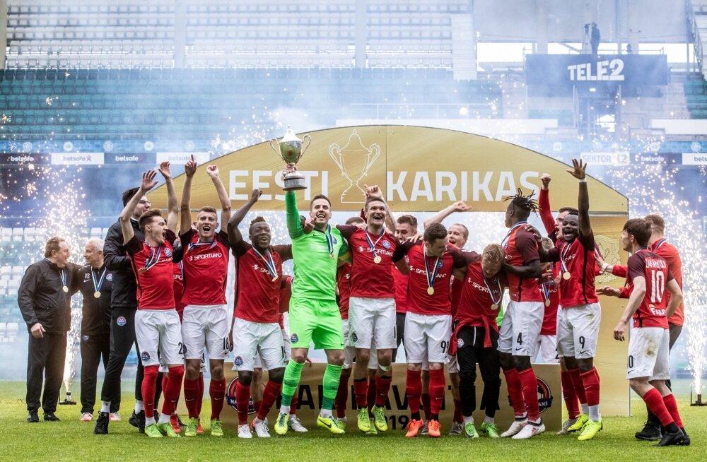 Narva Trans krooniti teist korda Eesti karikavõitjaks.