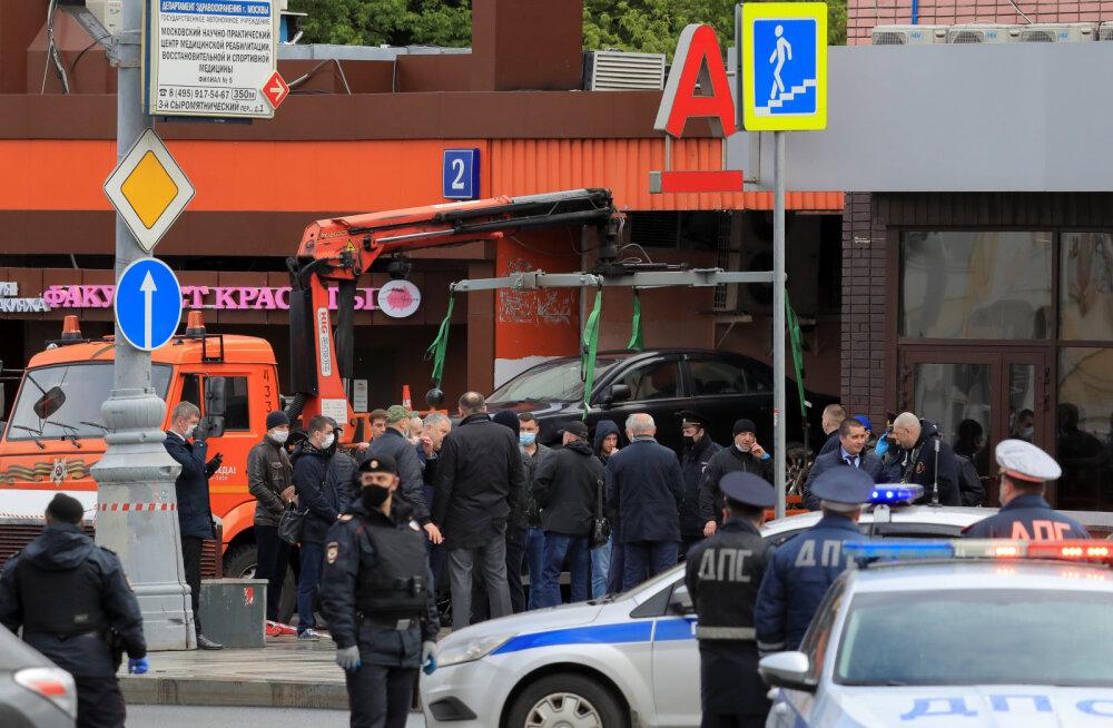 Moskva pantvangidraama sai kiirelt lõpu: pangakontori õhkida lubanud mees võeti kinni