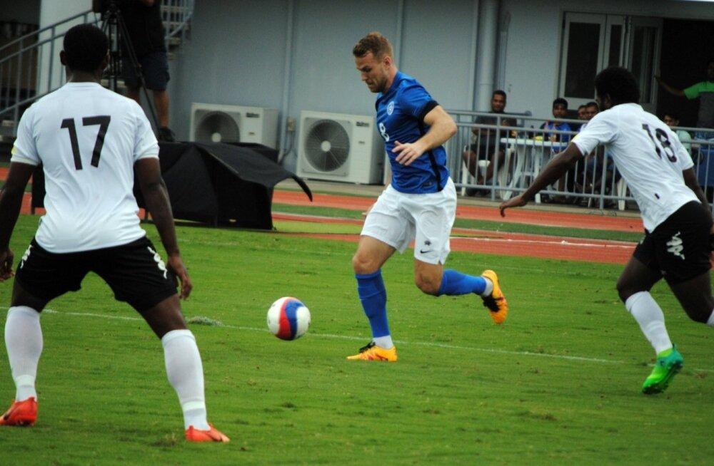 Henri Anier oli Okeaanias Eesti resultatiivseim, saades jala valgeks kahel korral.