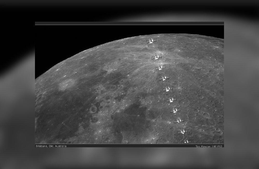 Mõni reis tundub peaaegu võimalik: kosmosejaam lendas Kuu eest mööda