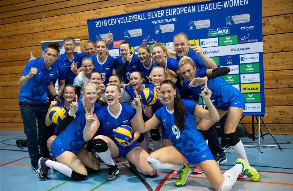Naiste võrkpallikoondis alistas teistkordselt Šveitsi ja tagas pääsme Hõbeliiga Final Fourile!