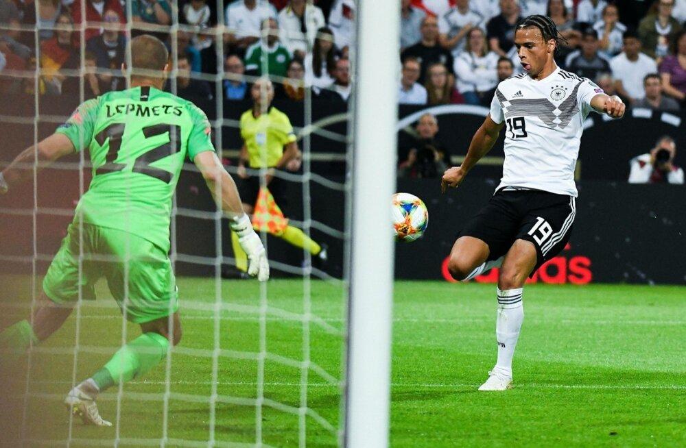 Eesti jalgpallikoondis kaotas Mainzis Saksamaale 0:8.