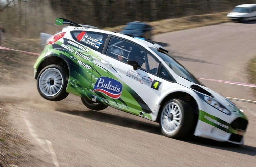 Raul Jeets ja Andrus Toom Rally Masters Show'l