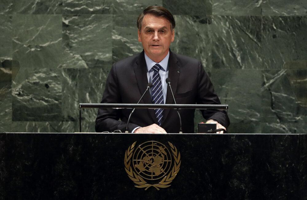 President Bolsonaro kuulutas ÜRO-s, et Amazonase vihmamets kuulub Brasiiliale