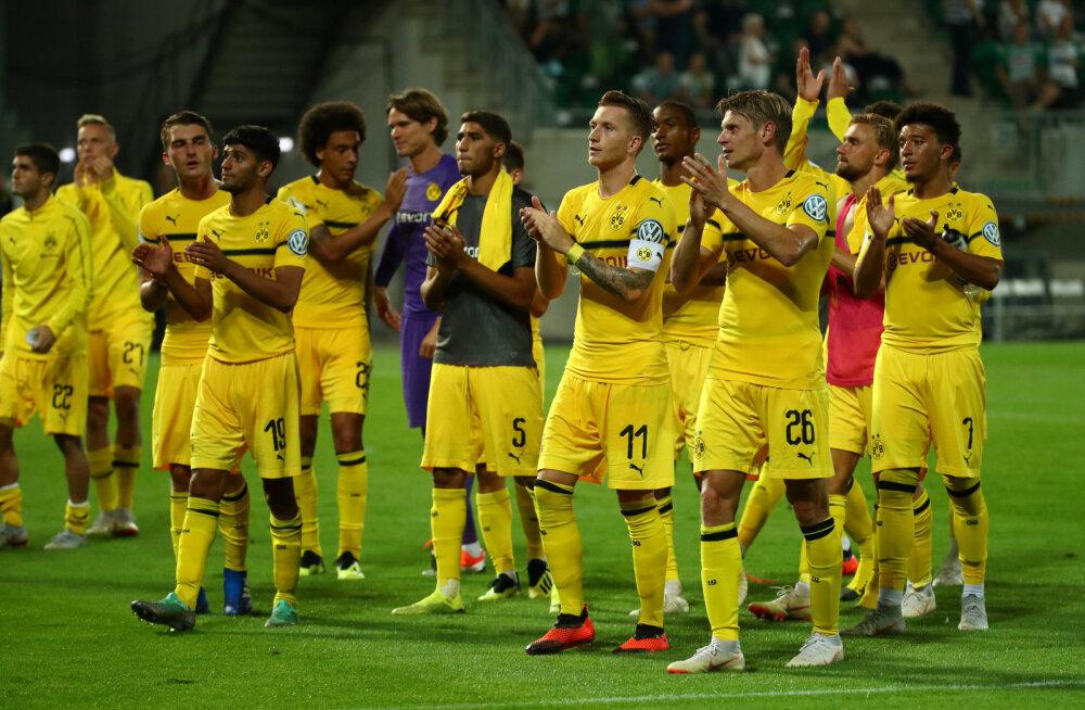 Dortmundi Borussia oli Saksamaa karikasarjas hädas teise liiga klubi vastu