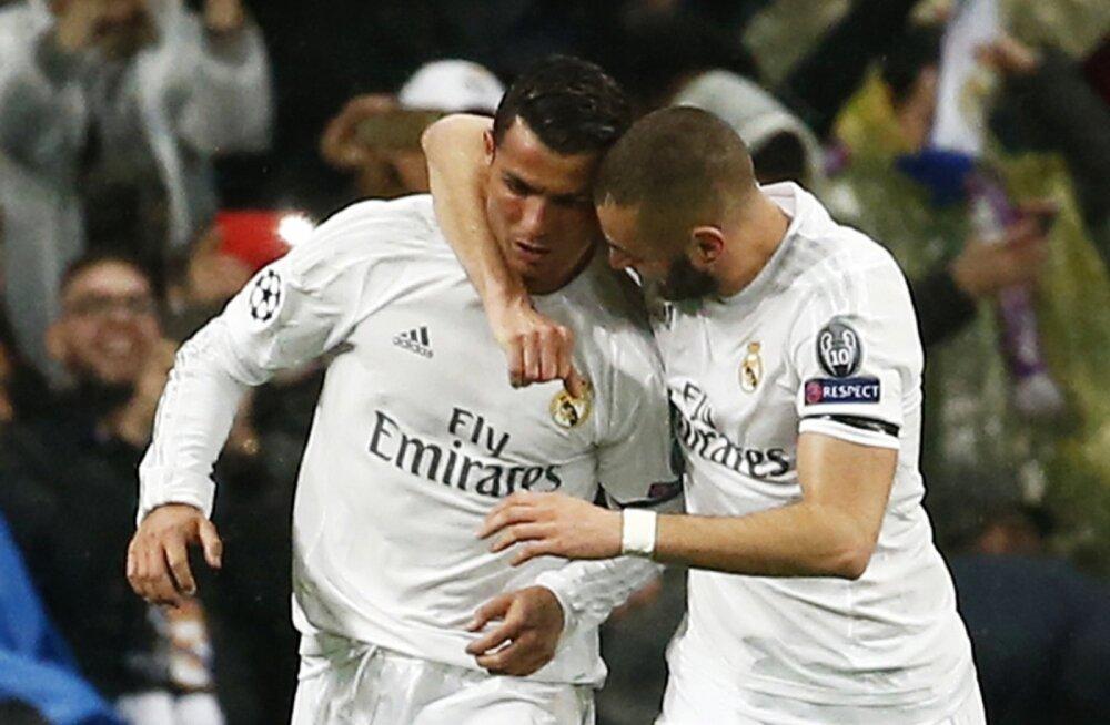 Cristiano Ronaldo (vasakul) ja Karim Benzema.