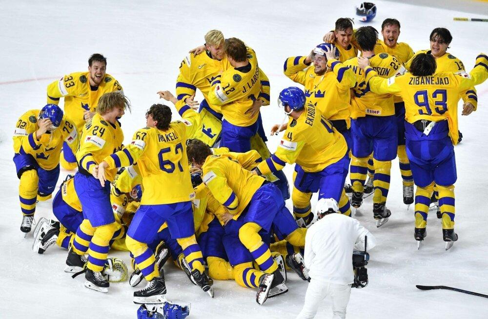Rootsi jäähokikoondis võitis MM-tiitli.