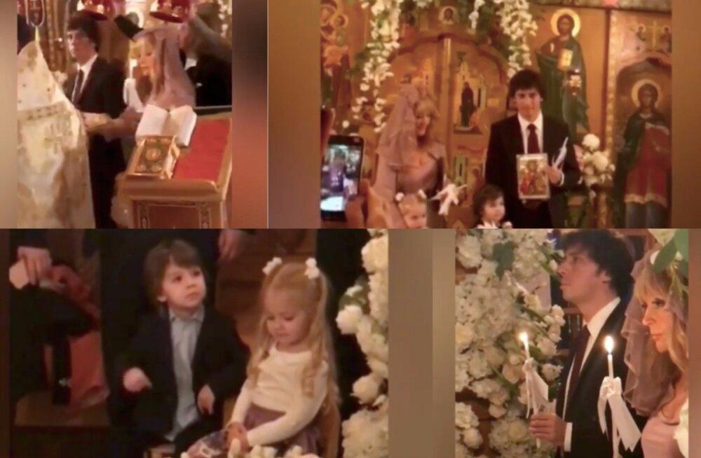 VIDEO | Kibe, kibe! Alla Pugatšova ja Maksim Galkin laulatati kiriklikult