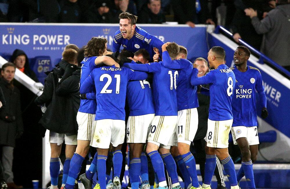 Dramaatilisest 94. minuti väravast võitnud Leicester tõusis tabelis teiseks