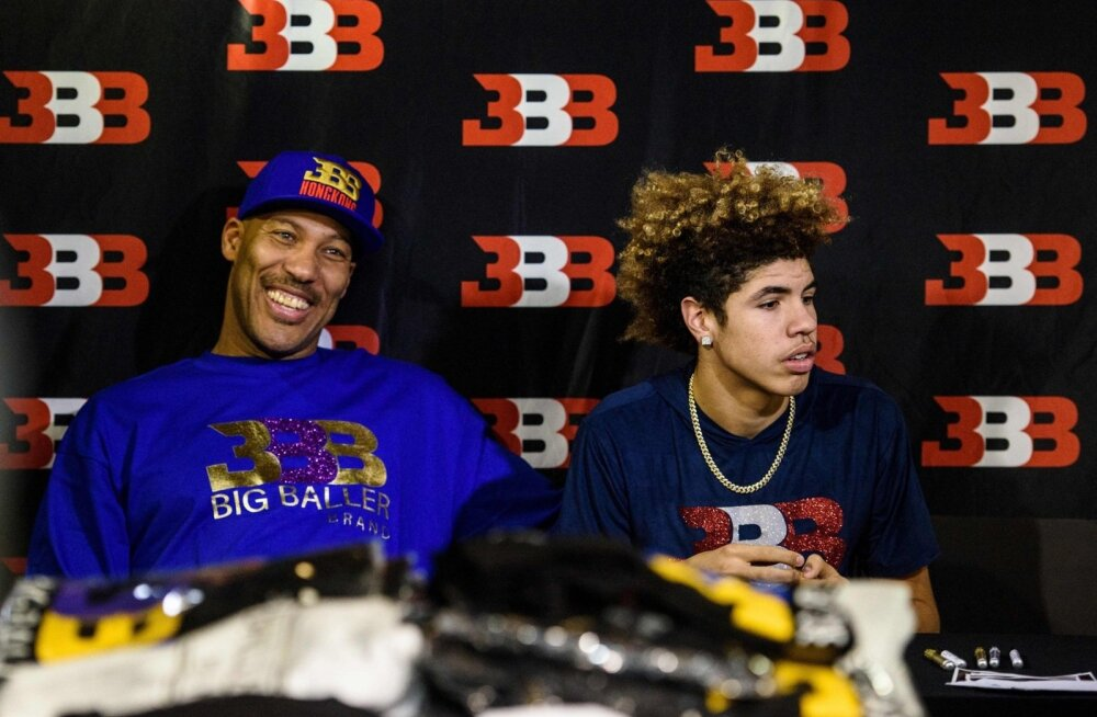 LaVar Ball ja LaMelo Ball.