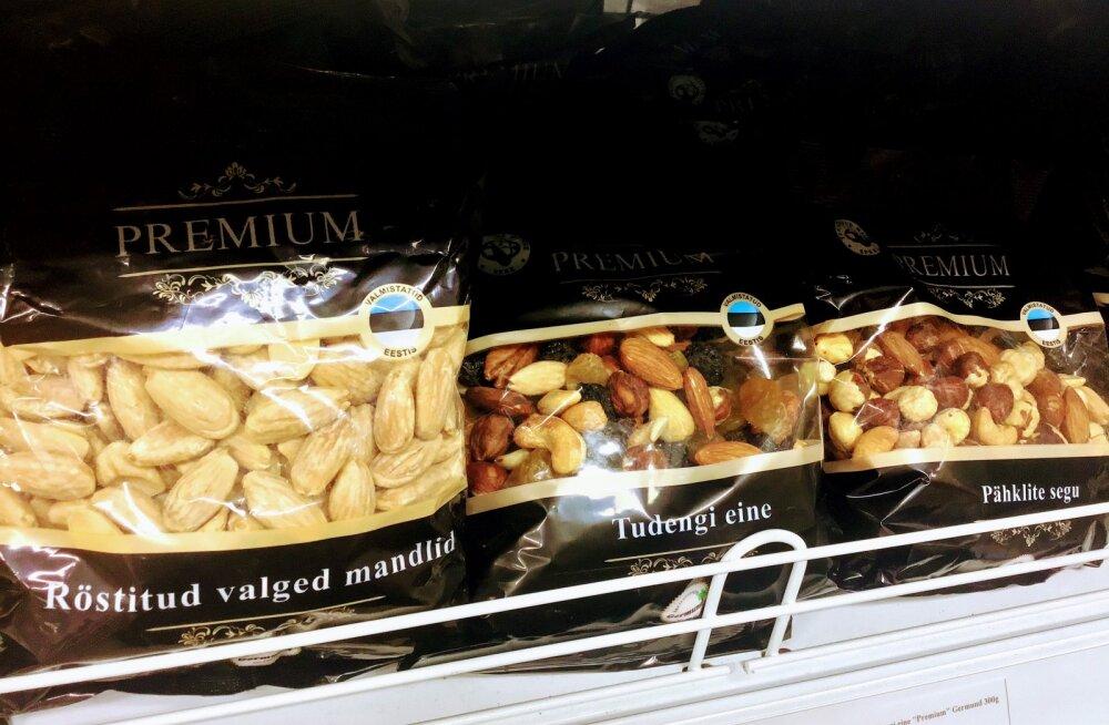 FOTO | Miks müüakse imporditud pähkleid Eesti lipu märgiga?