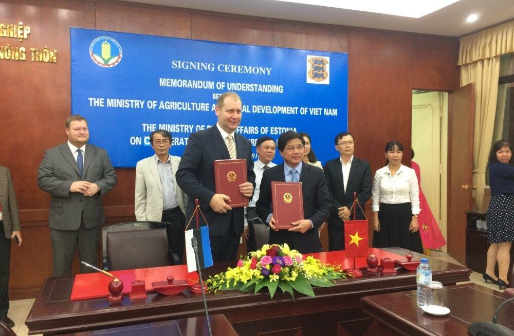 Круузе: вьетнамский министр похвалил эстонские продукты и э-технологии